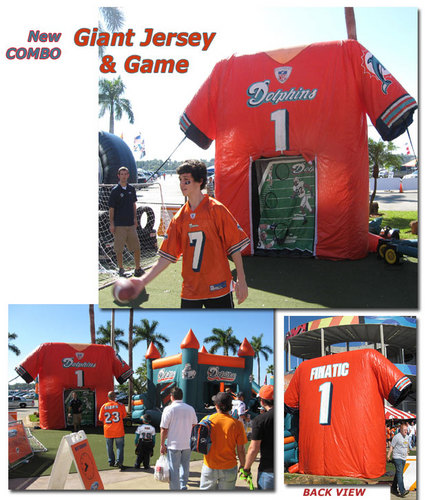 MIAMI DOLPHINS Combo Giant Jersey & Game