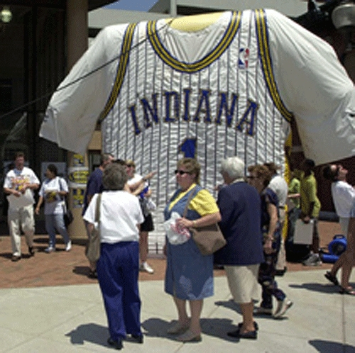Indianapolis Star at Pacers game