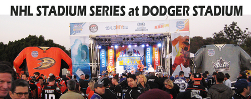 At Dodger Stadium for the NHL Stadium Series 2014