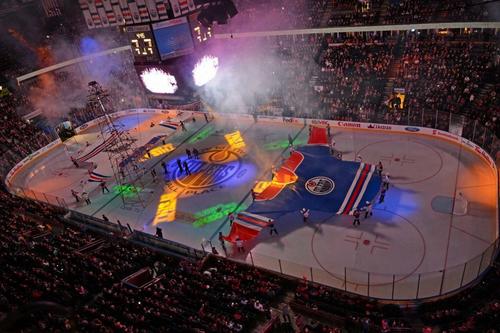 Edmonton Oilers On The Ice